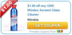 NEW $1/1 Windex Aerosol Glass Cleaner printable coupon! - http://www.couponaholic.net/2015/07/new-11-windex-aerosol-glass-cleaner-printable-coupon/