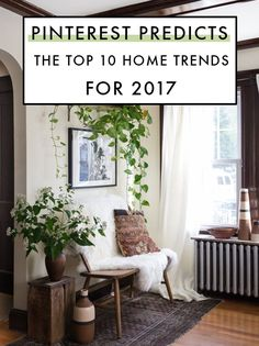 Pinterest Predicts The Top 10 Home Trends For 2017. Decorating Your Home, Natural Decorating, Diy Home Decor, Eclectic Style, Eclectic Decor, Modern Decor, Boho Chic, Boho Style, Pantone