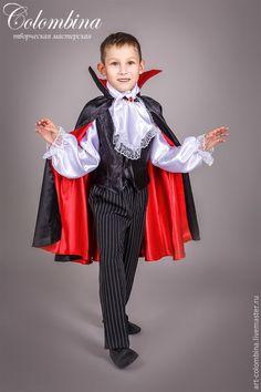 Купить костюм графа Дракулы - черный, костюм вампира, вампир, Дракула, костюм дракулы