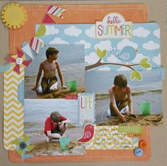 Hello Summer - Scrapbook.com