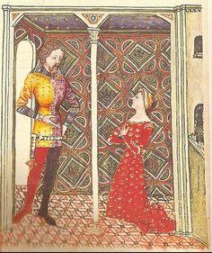 Queste del Saint Graal / Tristan de Léonois Location: Milan, Italy Dating: 1380 - 1385