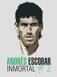 Andrés Escobar Mistakes are part of life , but its unfortunate what happened with you, you did a mistake but others did blunder with you Colombia Soccer, Sports Picks, International Football, Isle Of Man, Man United, Sports Logo, Football Season, American Football, Football Players