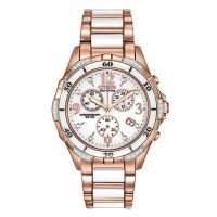 Citizen Womens Analog Citizen Ceramic Watch FB1233-51A-TWO TONE-One Size