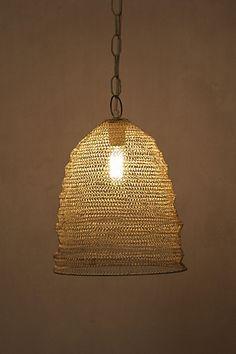 mesh beehive pendant light, anthro