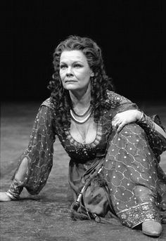 Production photograph of Judi Dench as Cleopatra in William Shakespeare's 'Antony and Cleopatra', London, 1987, photograph by Graham Brandon...