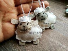 This item is unavailableFelt Sheep ornament Wool felt Easter Lamb ornament pastel Felt Christmas Ornaments, Handmade Ornaments, Handmade Christmas, Christmas Crafts, Xmas, Sheep Crafts, Felt Crafts, Lamb Craft, Easter Arts And Crafts