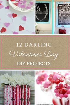 Adorable crafts for Valentines Day!   DIY Home, DIY Valentines Day, Valentines Day Home, DIY Holiday Home #Valentines