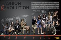 fashion page? split half and half, girls and guys. find different models for each but do overlap photos, tiny captions?