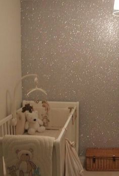 Glitter paint on one wall