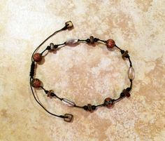 Stone Anklet Boho Anklet Bohemian Jewelry Rustic by FrancaandNen