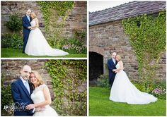 Bride and groom portraits on the lawn at The Ashes