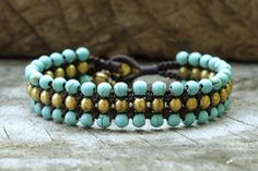 Hey, I found this really awesome Etsy listing at http://www.etsy.com/listing/108912787/turquoise-flat-brass-bracelet