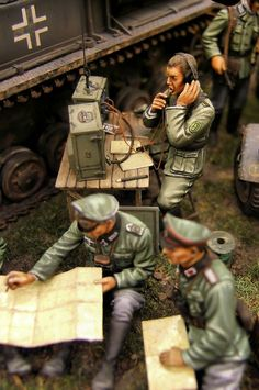 Russia 1943 Diorama WWII Figures & Diorama items available at www. Tamiya Model Kits, Tamiya Models, Lead Soldiers, Toy Soldiers, Military Action Figures, German Uniforms, Model Tanks, Military Modelling, Military Diorama