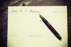 Old fashioned letter ...  addressing, antique, art, background, ballpoint, black, blank, book, brown, business, card, classic, close, communication, concept, contract, design, detail, diary, document, education, empty, handwriting, ink, isolated, letter, macro, message, metal, nobody, note, notebook, object, office, old, open, pad, page, paper, pen, retro, sheet, sign, table, vintage, white, wood, work, write, writing