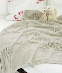 Free Pattern – Apple Tree Baby Afghan Pattern from Knit Rowan | Knitting | CraftGossip.com