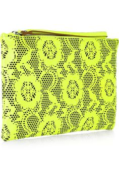 Christopher Kane  Laser-cut leather clutch  $530