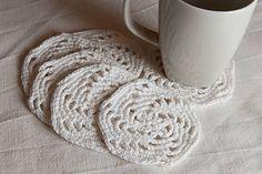 SalixAlba / Výpredaj - Podšálky háčkované - biele - špirála Handmade, Hand Made, Arm Work
