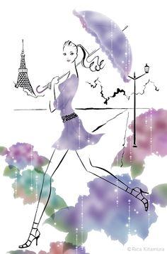 イラストレーター北村綸桂 work : illustrator,Rica Kitamura