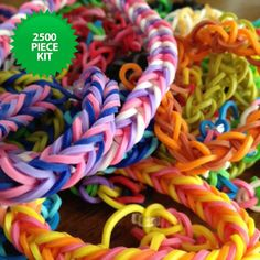Loom Bands with Board - 2500 Pieces | Maxwells Attic