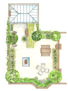 Elegant Roof Terrace Design With Planting Along Edges For Better Load Bearing