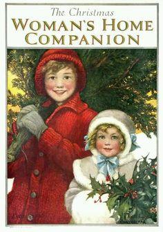 Woman's Home Companion vintage magazine Christmas cover art