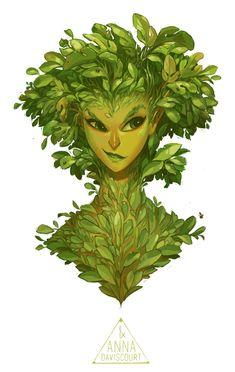 ArtStation - Forest Nymph Bust, Anna Daviscourt