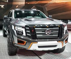 Based on the imposing Nissan TITAN XD, the TITAN Warrior raises the stakes by raising its height almost and its width by It rocks ginormous Nissan Trucks, Suv Trucks, Suv Cars, Pickup Trucks, 2017 Nissan Titan, 6x6 Truck, Sport Suv, Nissan Xterra, Sweet Cars