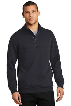 CornerStone CS626 - Half Zip Job Shirt #cornerstone #halfzipsweater #mensapparel