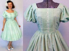 50s Dress / 1950s Dress / 50s Day Dress / by AuntieEstablishment