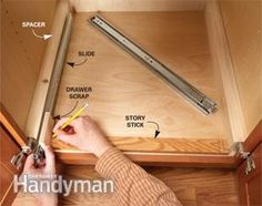 Kitchen Storage: Cabinet Rollouts - Article: The Family Handyman Kitchen Redo, Kitchen Pantry, Kitchen Design, Corner Pantry, Teal Kitchen, Pull Out Pantry Shelves, Storage Shelves, Shelving, Kitchen Cabinet Storage