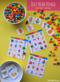 Do you love jelly beans? Learn how to throw a fun jelly bean party! Complete with jelly bean cookies and … Jelly Bean Game, Jelly Beans, Easter Bingo, Easter Games For Kids, Easter Ideas, Easter Food, Easter Activities, Hoppy Easter, Easter Party