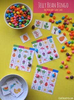 Jelly Bean Bingo Free Printable Game Cards  www.clubchicacirc...