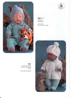 Album Archive - Dukketøj til Baby Born 2 - Ingelise Knitting Dolls Clothes, Knitted Dolls, Doll Clothes Patterns, Doll Patterns, Baby Patterns, Knitting Patterns, Boy Baby Doll, Baby Born Clothes, Bear Doll