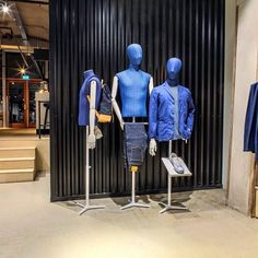 Men only denim store with our Macaron Torso's! Get your custom-made denim, high end denim-labels and real men food here in the city centre of Rotterdam #hansboodt #mannequins #denoism #rotterdam #menonly #denim #macaron #torso #buste