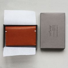 Leather card holder & gift box, from Our Workshop