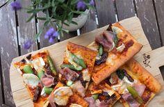 Spargelpizza mit Zie