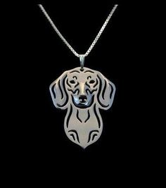 Dachshund Watercolor Weiner Dog Necklace Personalized Engraved Heart Custom Gift Pendant-Valentines Day Love