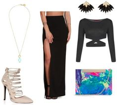 Class to Night Out: Slit Maxi Skirt - College Fashion