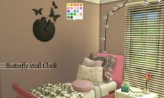 Butterfly Wall Clock at Enure Sims via Sims 4 Updates