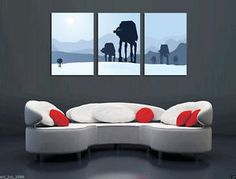 Oil Painting HD Print On Canvas Wall Decor Art,Star Wars 3PC (No Stretch)
