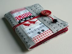 scrappy needle case tutorial ufo quilt blocks