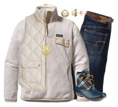 """""""let it snow, let it snow, let it snow:)❄️"""" by lindsay-mccartney ❤ liked on Polyvore featuring American Eagle Outfitters, Patagonia, J.Crew, Warehouse, Sperry Top-Sider and Honora"""