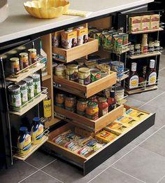 Kitchen Storage Ideas My dream kitchen organization! Kitchen Cabinet Organization, Organization Hacks, Kitchen Storage, Cabinet Ideas, Organizing Ideas, Cabinet Storage, Pantry Storage, Food Storage, Cabinet Space