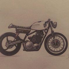 Sketch day  #caferacer #caferacers #moto #custom #streetbike #sketch #sketchbook #sketching Street Bikes, Photo And Video, Drawings, Painting, Instagram, Painting Art, Sketches, Paintings, Road Bike