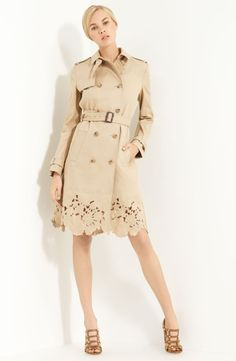 Valentino Belted Macintosh Trench- SO PRETTY! Also, SO EXPENSIVE. [sigh] $3490