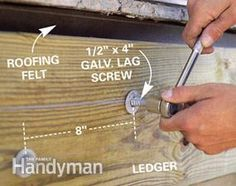 Build a No-Rot, No-Maintenance Deck Deck Building Plans, Deck Plans, Deck Framing, Concrete Footings, Cement Siding, Laying Decking, Deck Construction, Deck Builders, Diy Deck