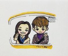 [Fanart] Sandara & Kim Young Kwang #sandara #dara #2NE1 #yg #kimyoungkwang