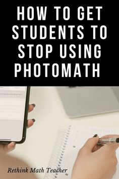 The PhotoMath App has made cheating easier than ever. Here's what you can do to not lose the fight and get your students to do their work without cheating. Math Class, Math Teacher, Math Textbook, Visible Learning, Learning Stations, What You Can Do, How To Get, Effective Teaching, How To Gain Confidence
