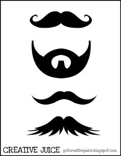 Printable Mustache | 19 Cool DIY Photo Booth Props