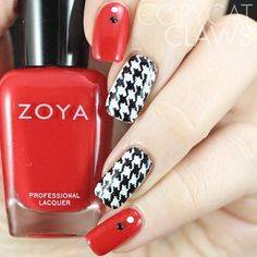 Copycat Claws: Houndstooth Nail Stamping